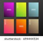 minimal linear covers design.... | Shutterstock .eps vector #694444534