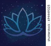 Stylized Outline Lotus Flower...