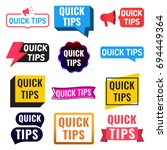 quick tips. badge  icon  set.... | Shutterstock .eps vector #694449364