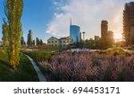 milan  italy   aug 02  2017 ...   Shutterstock . vector #694453171