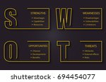 swot analysis font design with... | Shutterstock .eps vector #694454077