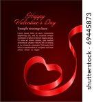 heart from ribbon valentine's...   Shutterstock .eps vector #69445873