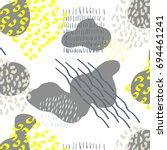 fancy brushstroke easy pattern...   Shutterstock . vector #694461241