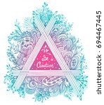 abstract floral triangle