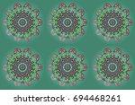 winter card merry christmas ... | Shutterstock . vector #694468261