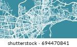 detailed vector map of malaga ... | Shutterstock .eps vector #694470841