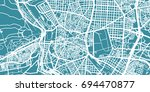 detailed vector map of madrid ... | Shutterstock .eps vector #694470877