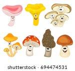 collection of cute cartoon ...   Shutterstock .eps vector #694474531