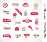 vector stickers  price tag ... | Shutterstock .eps vector #694478377