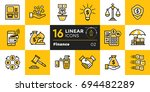 collection of outline icons ... | Shutterstock . vector #694482289