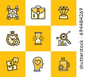 collection of line icons for... | Shutterstock . vector #694484269