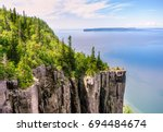 Sleeping giant lake superior mountain cliff lookout