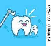 dentistry banners cleaning... | Shutterstock . vector #694491991