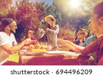 leisure  holidays  eating ... | Shutterstock . vector #694496209