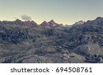 mountain sunrise above laghi di ... | Shutterstock . vector #694508761