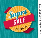 super sale up to 70  off... | Shutterstock .eps vector #694511371