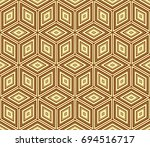 stylish geometric background.... | Shutterstock .eps vector #694516717