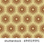 stylish geometric background.... | Shutterstock .eps vector #694519591
