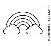 rainbow and clouds icon | Shutterstock .eps vector #694522444