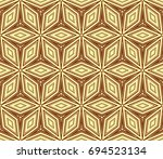 stylish geometric background.... | Shutterstock .eps vector #694523134