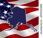 united states  alaska. dark... | Shutterstock .eps vector #694525285