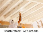 professional house painter... | Shutterstock . vector #694526581