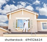 professional house painter... | Shutterstock . vector #694526614