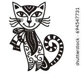 beautiful cat. vector... | Shutterstock .eps vector #694547731