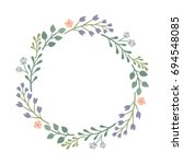 beautiful round frame with... | Shutterstock .eps vector #694548085