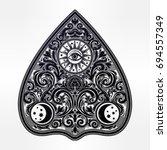 hand drawn vintage magic ouija... | Shutterstock .eps vector #694557349