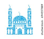 mosque vector icon. mosque... | Shutterstock .eps vector #694557889