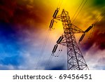 electrical transmission tower... | Shutterstock . vector #69456451