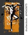 man practicing modern dancing   ... | Shutterstock .eps vector #694565875