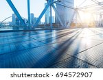 tianjin downtown cityscape seen ... | Shutterstock . vector #694572907