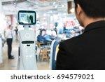 robotics trends technology  ... | Shutterstock . vector #694579021