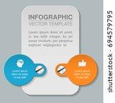 vector infographic template for ... | Shutterstock .eps vector #694579795