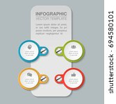 vector infographic template for ... | Shutterstock .eps vector #694580101
