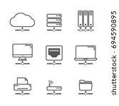 network icon | Shutterstock .eps vector #694590895