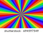 Radiating Rainbow Colored Line...