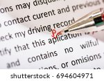 correcting application word... | Shutterstock . vector #694604971