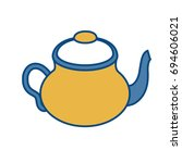 tea pot icon  | Shutterstock .eps vector #694606021