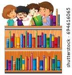 Children Reading Books In...