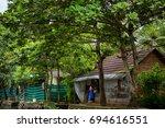 alappuzha backwaters kerala ... | Shutterstock . vector #694616551