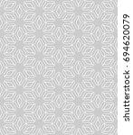 seamless line pattern in... | Shutterstock .eps vector #694620079