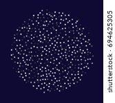 silver stars on a dark blue...   Shutterstock .eps vector #694625305