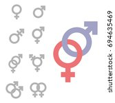 gender symbol set. male female... | Shutterstock . vector #694635469