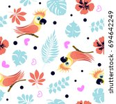 vector seamless pattern with... | Shutterstock .eps vector #694642249