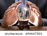 midsection of businessman...   Shutterstock . vector #694647301