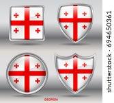 flag of georgia in 4 shapes... | Shutterstock .eps vector #694650361