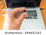 flash card micro sd | Shutterstock . vector #694652161